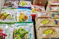 KÖLN, OKTOBER 2019: TK-Früchte für Smoothies auf ANUGA Messe