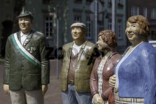 Skulpturen in der Stadt Rees, Niederrhein, NRW