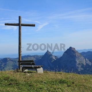 Summer scene on Mount Fronalpstock, Switzerland.