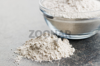 Whole grain wheat flour.