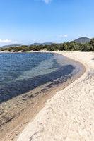 Wild sandy beach, Figari, Corsica, France