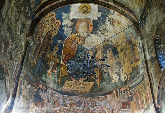 Depiction of Christ Pantocrator, St. George monastery, Ubisa, Imereti, Georgia