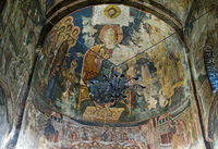 Depiction of Christ Pantocrator, St. George monastery, Ubisa, Imereti, Georgia
