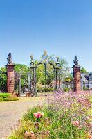 Entrance portal to Philippsruhe Castle in Hanau, Hesse
