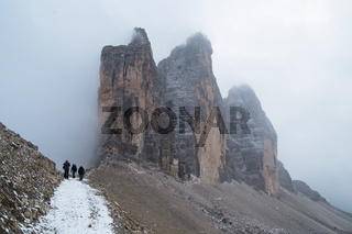 Drei Zinnen Lavaredo, Dolomites Alps mountains