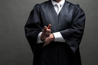 german lawyer with a robe