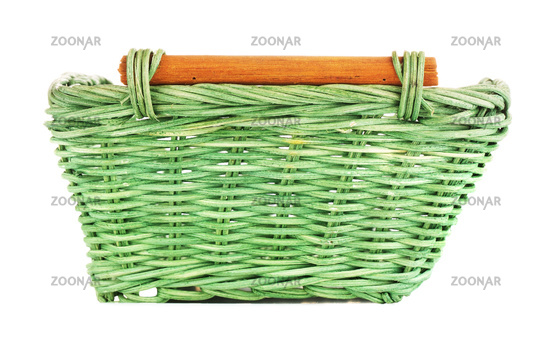 Green Wooden Basket