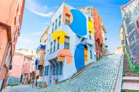 Colorful houses in the cobblestone streets of Fene in, Istanbul