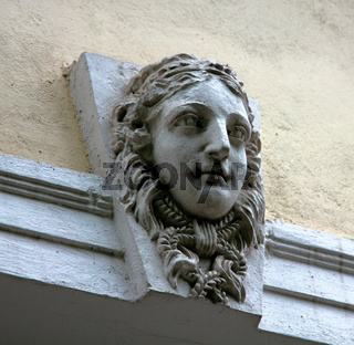 medallions on the buildings for decoration, masverk