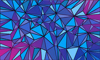 Magenta blue triangle abstract background Christmas and New year