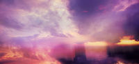 Colorful dramatic evening sky with added color gradient textures, cloud textures
