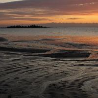 Sunrise scene in Vita Sannar, Sweden.