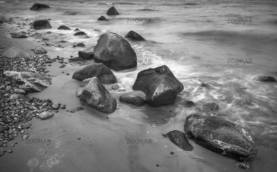 Stones on the north beach of Ruegen