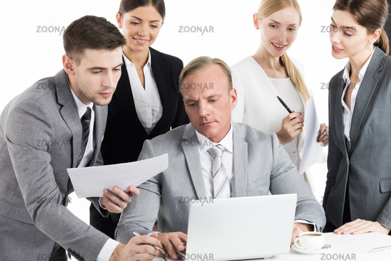 Working business team