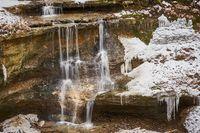 Ringing Waterfall, Huettenbach Gorge, Nuremberg Land, Franconia, Bavaria.