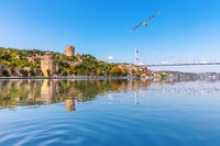 View on the Rumelian Castle and the Second Bosphorus Bridge, Istanbul