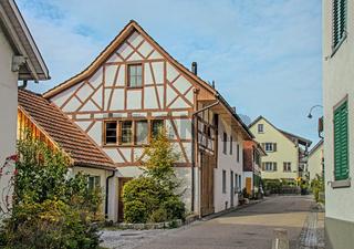 Flurlingen am Hochrhein bei Schaffhausen, Schweiz