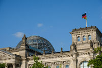 The dome on the Reichstag building, the german parliament in Berlin