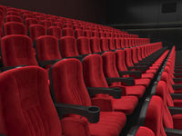 3D rendering modern cinema