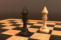 Digital 3D Illustration of a Chess Board
