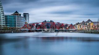 The Detroit Bridge in Salford Quays