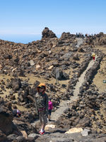 Tourists walking at Teide top area