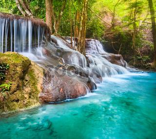 Beautiful waterfall Huai Mae Khamin, Thailand