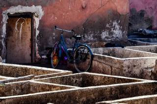 Tannery in Marrakech, Morocco Africa