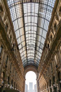 Galleria Vittorio Emanuele II Entryway Famous Destination Italy Architecture Shopping Mall During Christmas 2016 Traveling Winter Sightseeing Crowd