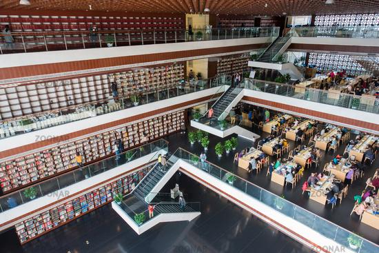 Chengdu public library interior architecture