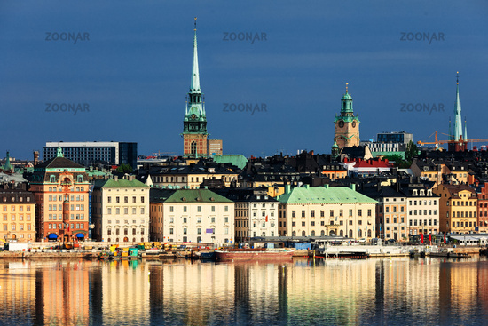 old part of Stockholm in a sunny day