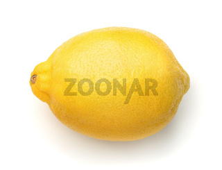 Top view of whole ripe lemon