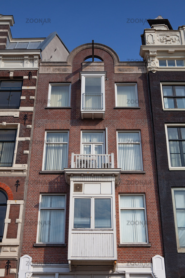 The detail of the houses in Amsterdam,  Netherlands.