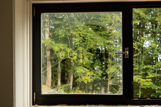 Broken Window after gutting a building