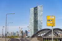 European Central Bank and skyline of Frankfurt