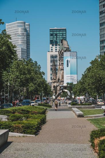 Berlin downtown, the Tauentzienstr. /Kurfuerstendamm / Kudamm, the most famous shopping district