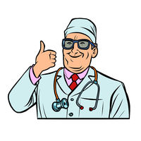 doctor, thumb up gesture