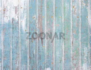 Detail of an old blue wooden door