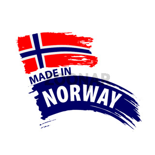 Norway flag, vector illustration on a white background
