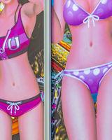 Woman with Bikini Illustration Bilboard, Tokyo, Japan