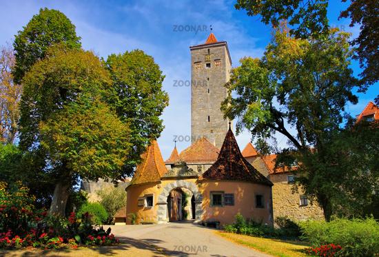 Rothenburg Burgtor - Rothenburg in Germany, the castle gate