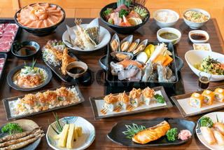 Vareity of Japanese food