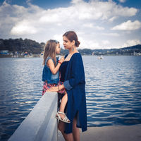 Mother and daughter at Xuan Huong Lake, Dalat, Vietnam