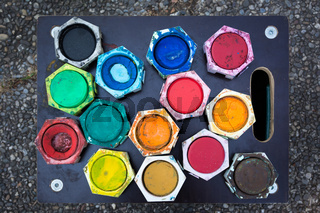 Color Palette Painting Watercolor Colorful Tray Board Ground
