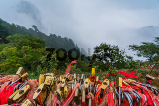 View from the South Peak in Huashan mountain