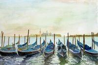 Venice, view from the St. Mark´s Square on the island Giorgio Maggiore