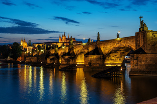 Illuminated Charles Bridge