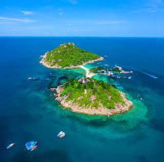 Koh Nang Yuan aerial view