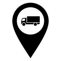 Lastkraftwagen und Kartenmarkierung - Truck and location pin