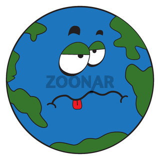 Cartoon strange planet earth